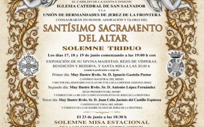 SEGUNDO DÍA DE TRIDUO AL SANTÍSIMO SACRAMENTO DEL ALTAR